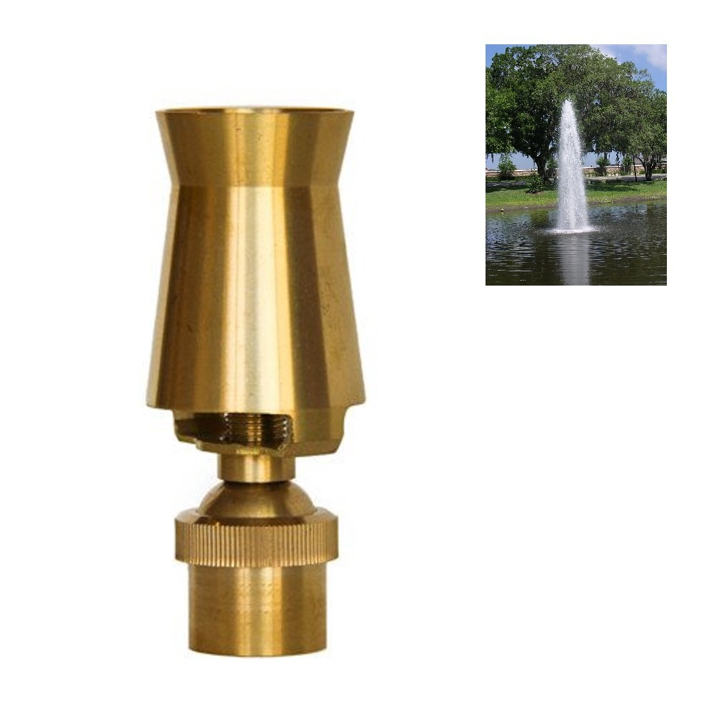 NAVADEAL 2'' DN50 Brass Ice Tower Cascade Water Fountain Nozzle Spray Pond Sprinkler - For Garden Pond, Amusement Park, Museum, Library