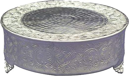 12-Inch Silver GiftBay Creations 743-14R Wedding Round Cake Stand