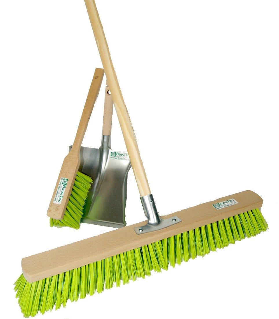 BawiTec Garden Broom Set 60 cm with Handlebar and shovel neon-green BawiTec-Badewien