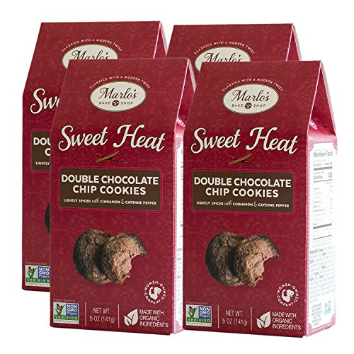 Marlo's Bakeshop Sweet Heat Double Chocolate Chip Cookies with a Light Kick of Cinnamon & Cayenne (4 pack)
