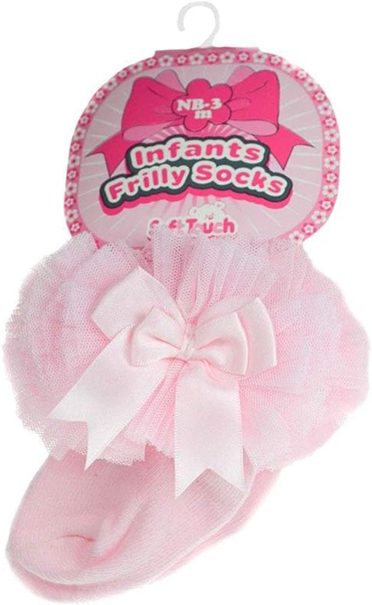 Baby Girls Tutu Ankle Socks With Spanish Frilly Satin Organza Lace /& Bow GS114