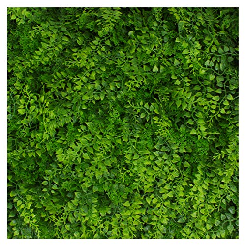 (Artificial Hedge - Outdoor Artificial Plant - Great Fern and Ivy Substitute - Sound Diffuser Privacy Fence Hedge - Topiary Greenery Panels (12, Juniper))