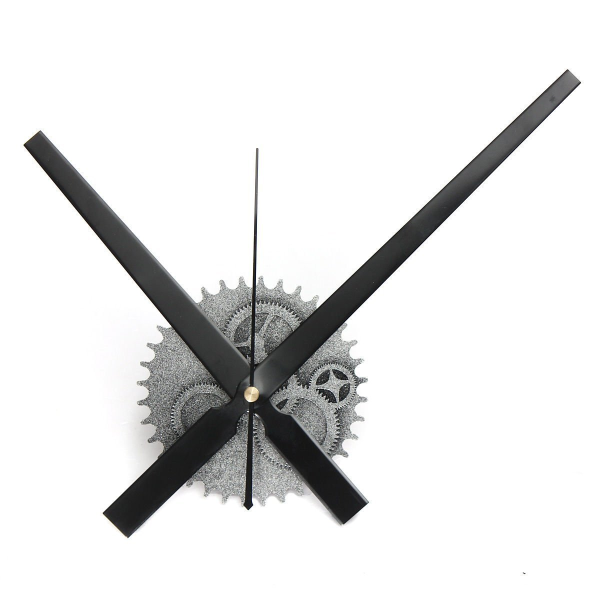 Wall Clock - SODIAL(R) Vintage DIY Mechanism Large Wall Clock Home Living Room Decoration Art Design silver SPHAGT48219