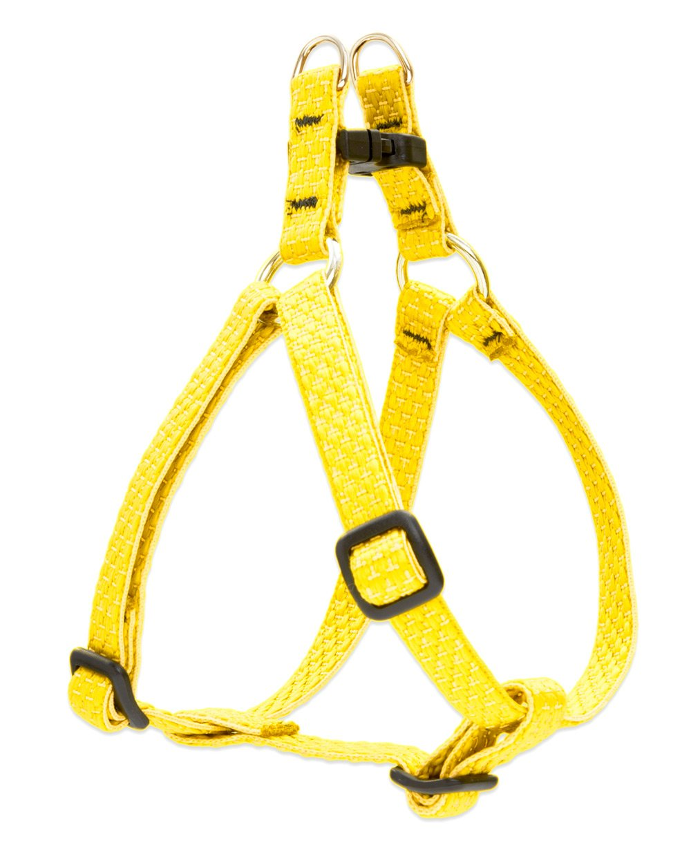 Lupine Eco 1 2-Inch Recycled Fiber Step-In Harness for Small Dogs with Girth Size 10 to 13-Inch, Sunshine
