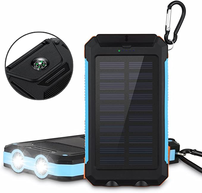 gaixample.org 5V21W Solar Panel with Dual USB Ports Water ...
