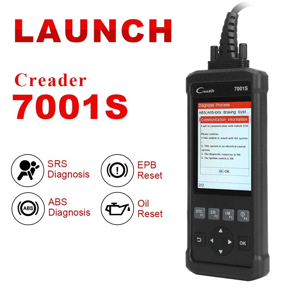 Launch OBD2 Scanner,Code Reader 7001S OBD II Scan Tool ABS SRS Diagnostic Scanner Tools with Oil Rest EPB Service,ABS Reset Service Functions. by LAUNCH (Image #2)