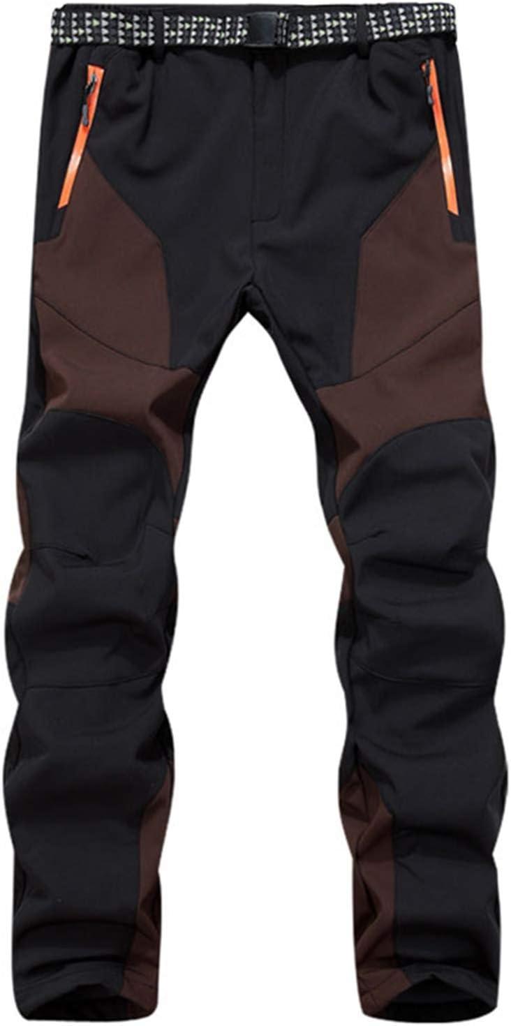 SUKUTU Pantalones de Senderismo Softshell para Exteriores para Hombres Pantalones de Lana Gruesa Calientes Impermeables A Prueba de Viento Deportes de esqu/í de Nieve