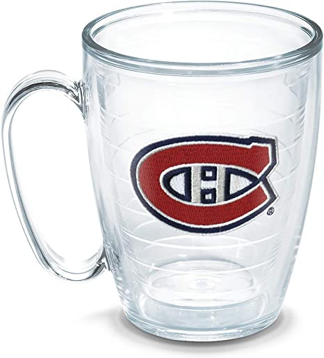 Tervis Nhl Montreal Canadiens Mug Emblem 16 Oz Clear Tumblers Coffee Cups Mugs