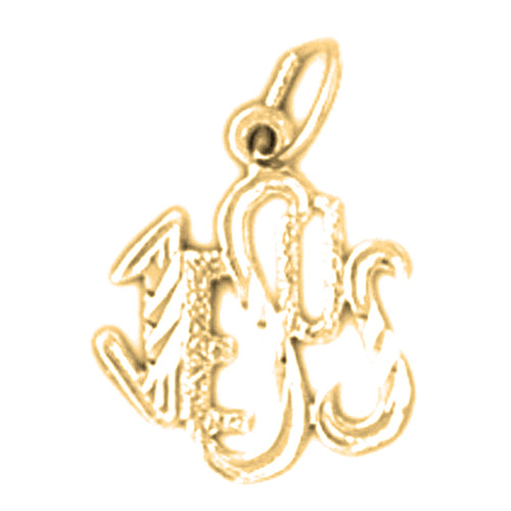 JEWELS OBSESSION 18K Jesus Pendant 18K Yellow Gold Jesus Saying Pendant Made in USA