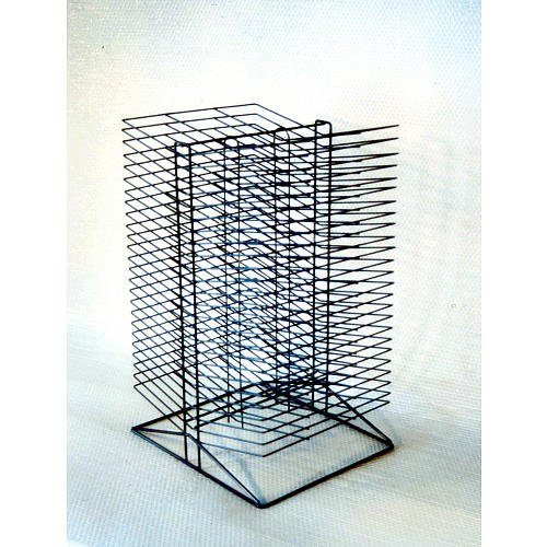 Sax All-Steel Double Sided Wire Drying Rack - Black Enamel - 30 X 17 X 20 inch by School Specialty, In