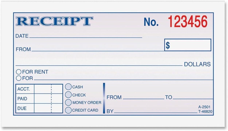 Amazon Com Adams Money Rent Receipt Book 2 Part 2 3 4 X5 3 8 50 Bk Blank Receipt Forms Office Products