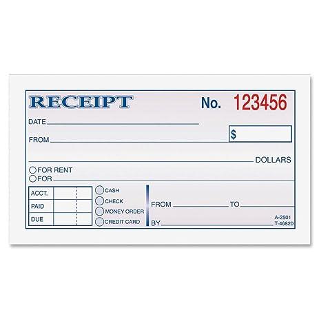 ABFDC2501   Adams Wire Bound Money/Rent Receipt Books  Blank Reciept