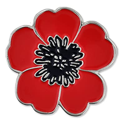 Amazon pinmart red and black poppy flower remembrance memorial amazon pinmart red and black poppy flower remembrance memorial day enamel lapel pin jewelry mightylinksfo