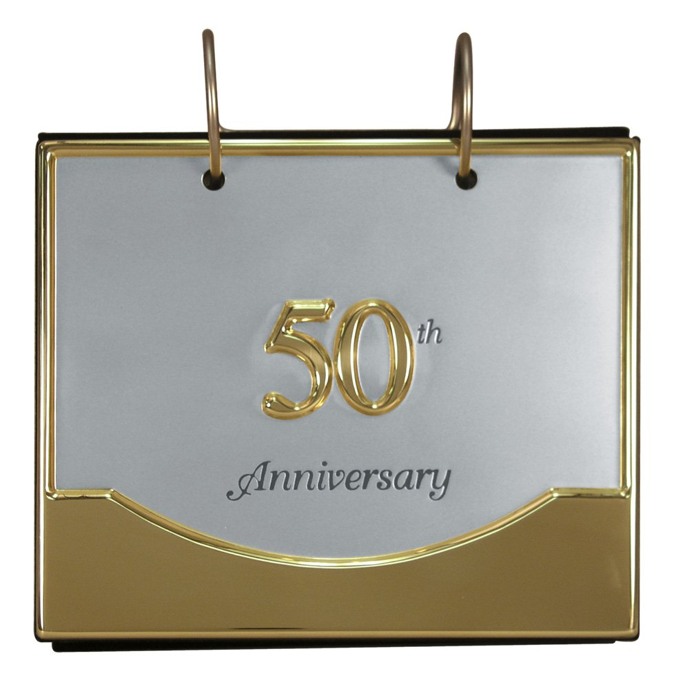 Amazon malden international designs wedding 50th anniversary amazon malden international designs wedding 50th anniversary flip album two tone picture frame 4x6 goldsilver home kitchen jeuxipadfo Image collections