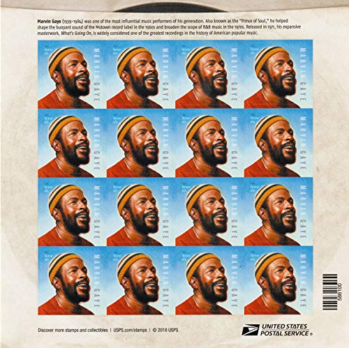 Music Stamp Series - USPS NEW Marvin Gaye Music Legend Commemorative Stamp Sheet of 16 Forever Stamps