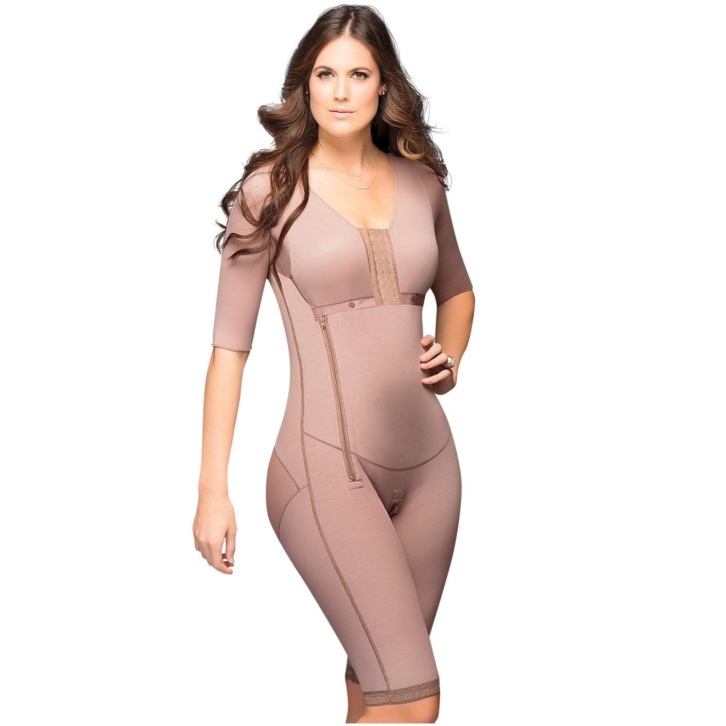 Fajas DPrada 008 Full Body Shaper Liposuction Compression Garments Post Surgery - Cocoa-Optic - M by FAJAS DISENOS D'PRADA
