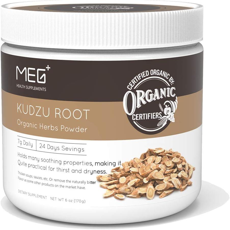 MEGPLUS Organic Kudzu Root Powder | 6 Ounce | 100% Organic Extract | USDA Organic Certified | Kosher Certified