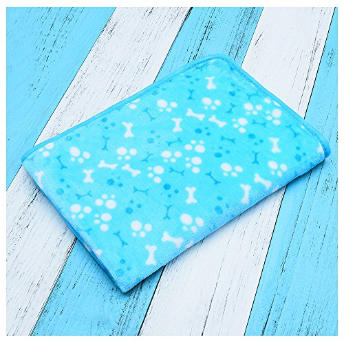 Hii-Yo Pet Dog Cat Pad Comfortable Warm Soft Coral Velvet Kenon Bed Blanket Pet Cushion Pad blue L (Blue Ribbon Coral Cats)
