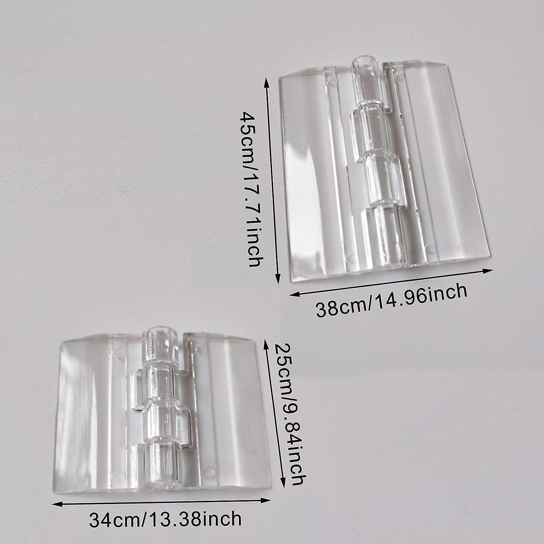 45 x 38 mm 12 St/ück Transparent Acryl Scharniere Durchsichtigem Faltende Acrylkunststoff Durable Scharniere f/ür Klavier Make Up Box T/ür Schrank Schmuck-Box 25mm x 33mm