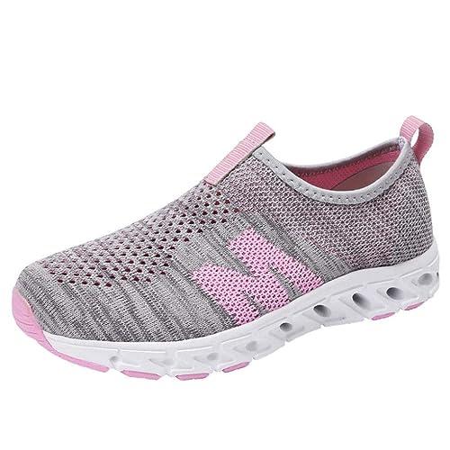 Logobeing Zapatillas Deportivas de Mujer Aire Libre Respirable Malla Cómoda Exterior Calzados de Running Sneakers 36-40: Amazon.es: Zapatos y complementos