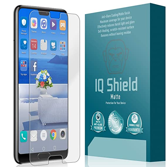 Huawei P20 Pro Screen Protector, IQ Shield Matte Full Coverage Anti-Glare  Screen Protector for Huawei P20 Pro Bubble-Free Film