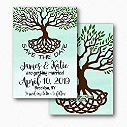 Celtic Knot Wedding Save the Date Cards | Envelopes Included