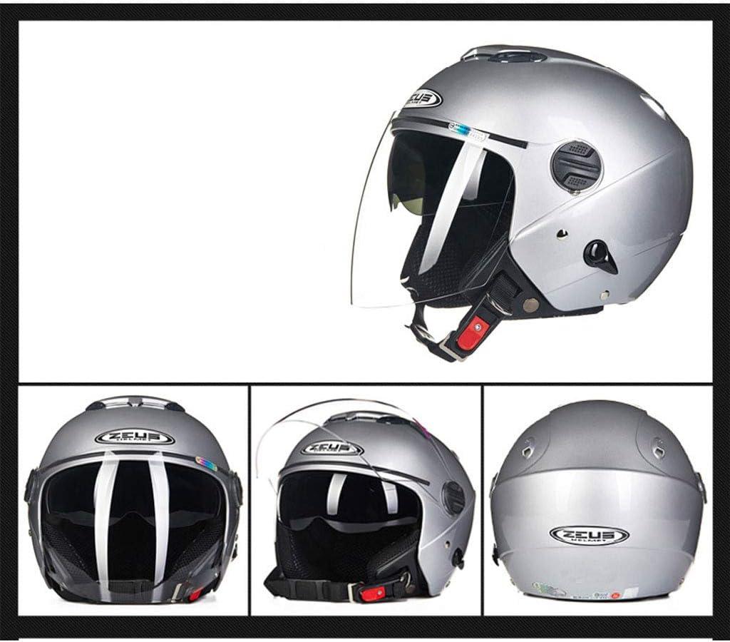 GYZ Casco-Casco Masculino Moto Doble Lente Moda Moto Casco + ...
