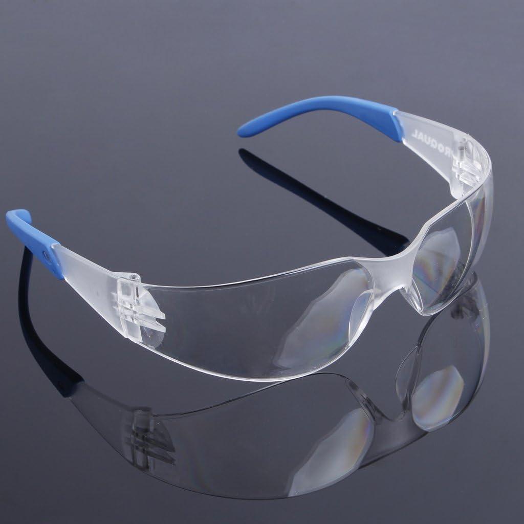 Anteojos de seguridad para protección de los ojos, gafas de seguridad para montar en laboratorio, anteojos antideslizantes azul