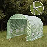 Giantex Heavy Duty Larger Greenhouse Walk in Tunnel Green House Outdoor Garden 12'x7'x7′(12'x7'x7′)