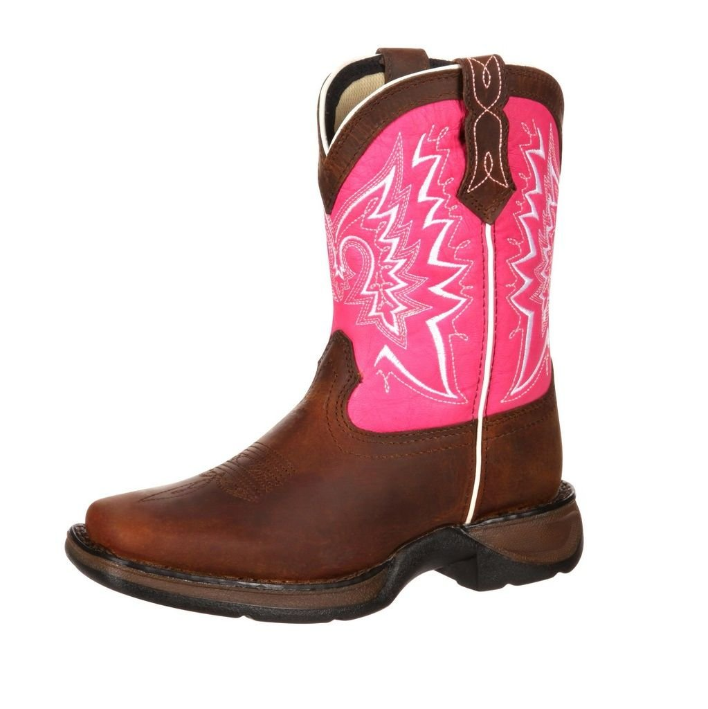 Durango Girl's Let Love Fly 8'' Pink Casual Boot 7.5 M