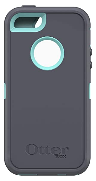 new arrival f05d0 13d92 OtterBox Defender Series Case for Apple iPhone SE, iPhone 5s, iPhone 5 -  (Case Only, No Holster) Non-Retail Packaging - Slate Grey/Aqua Blue