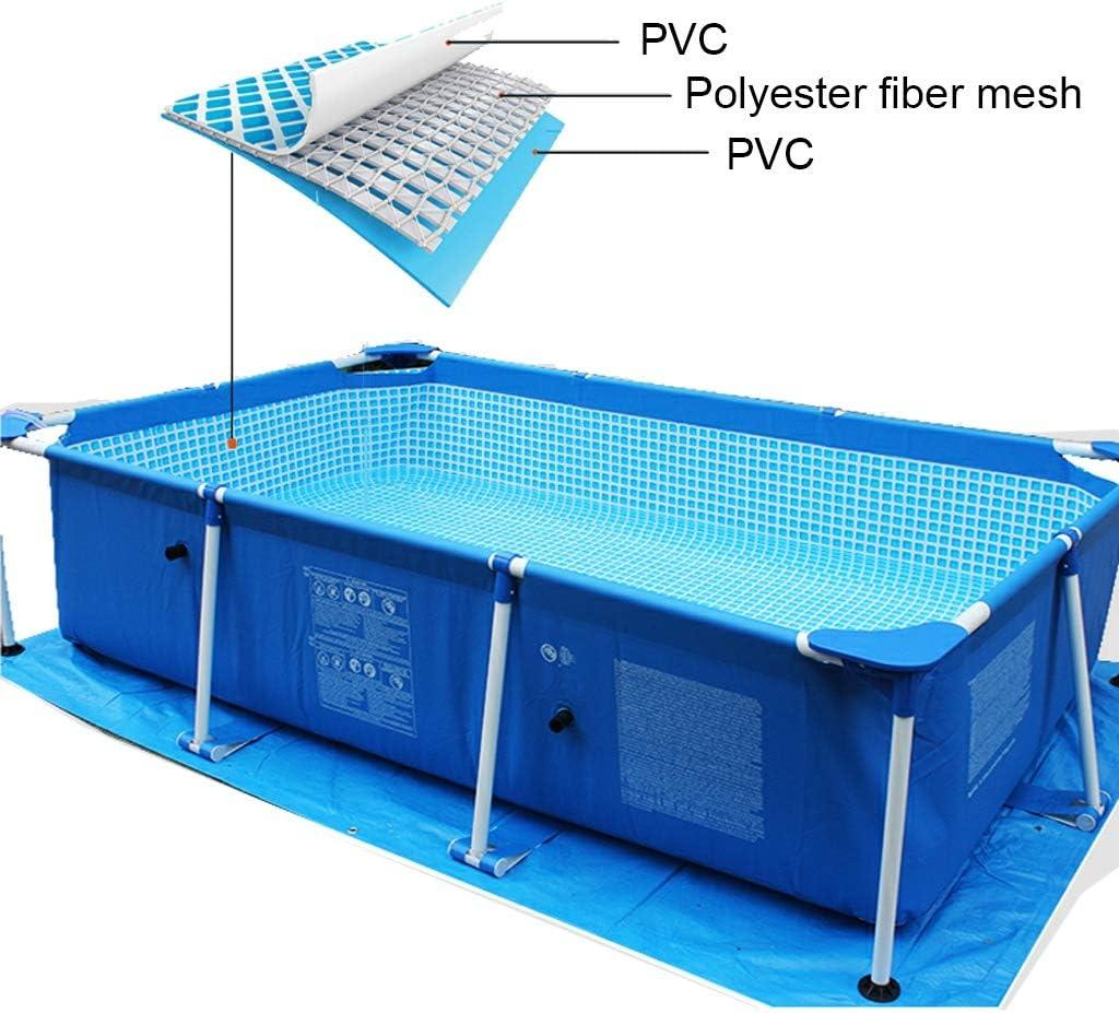 Los flotadores de la Piscina Gran Piscina con Soportes de niños y Adultos y Cubierta de Suelo Libre de Tela y Piscina Juguetes (Size : 4.5 * 2.2 * 0.84m)