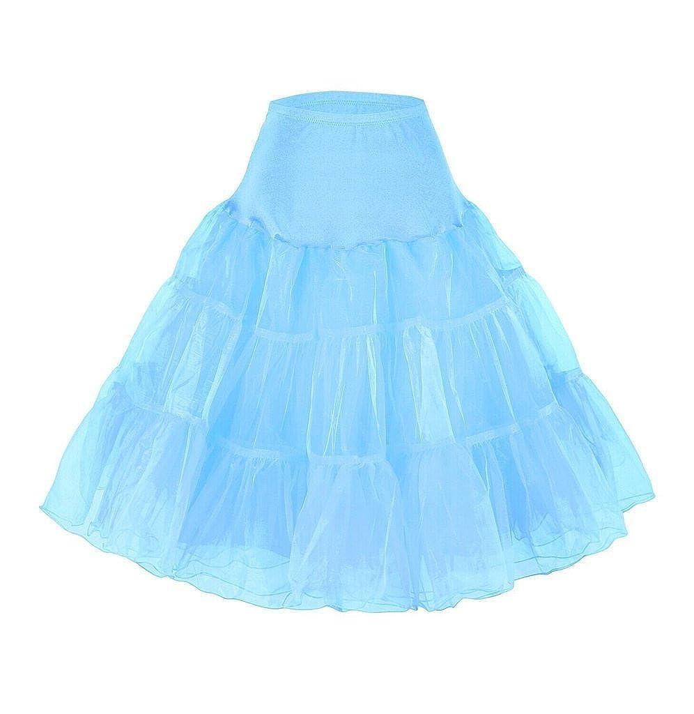 Snowskite Womens 50s Vintage Rockabilly Net Petticoat Skirt Tutu JKPE0001-1