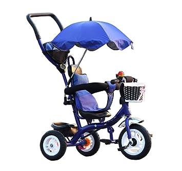 BZEI-BIKE Carritos de Triciclo para niños Carruajes de bebé Bicicletas para niños 3 Ruedas