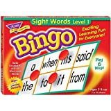 Sight Words Bingo - Language Building Skill Game for Home or Classroom (T6064), Build Vocabulary with 46 Most-Used Words…