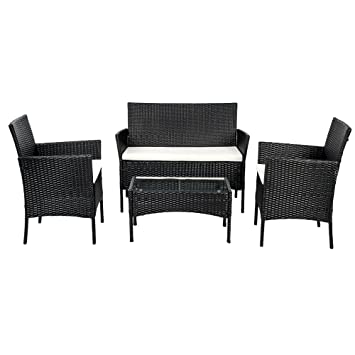 BTM black rattan garden furniture sets patio furniture set garden