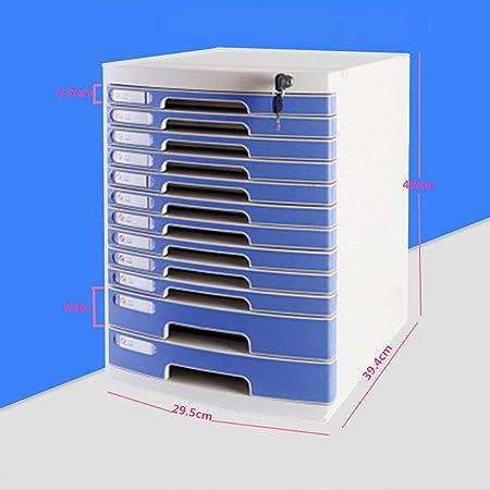 Carpetas Carpeta Caja de archivo de rack de almacenamiento de plástico de acabado horizontal de 12 capas con archivador de bloqueo (29.5 * 39.4 * 43cm) caja de archivo (Tamaño : 29.5*39.4*43cm) : Amazon.es: Hogar