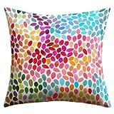 DENY Designs Garima Dhawan Rain 6 Outdoor Throw Pillow, 16-Inch by 16-Inch