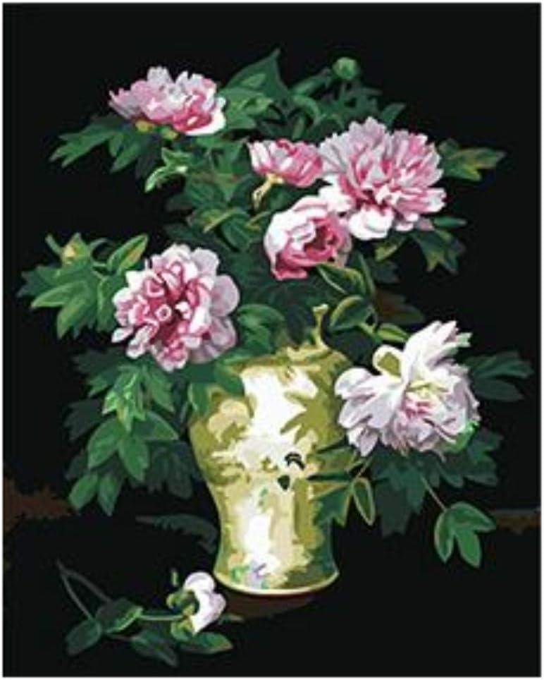 Pinturas Al Óleo Bricolaje Sin Marco Pintura De Jarrón Y Flor Hermosa Por Números En Lienzos Cuadros Para Colorear Por Números Con Pinturas Acrílicas
