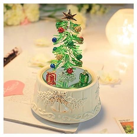Christmas Tree Music Box Rotating Lights Christmas Gift with Drawing Glass - Amazon.com: Christmas Tree Music Box Rotating Lights Christmas Gift