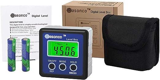Digital Wasserwaage Winkelmesser Neigungsmesser LCD Messgerät Level Box Gauge EU