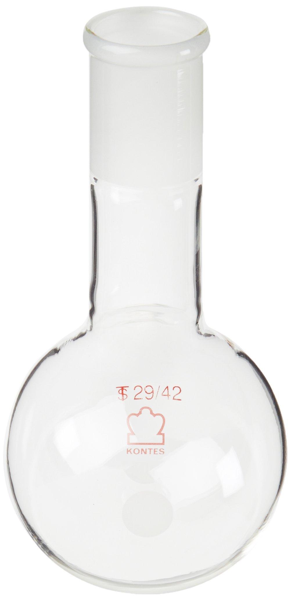 Kimble 601010-0429 Borosilicate Glass Long Neck Round Bottom Distilling Flask, Heavy Wall, Standard Taper Joint, 250 ml Capacity