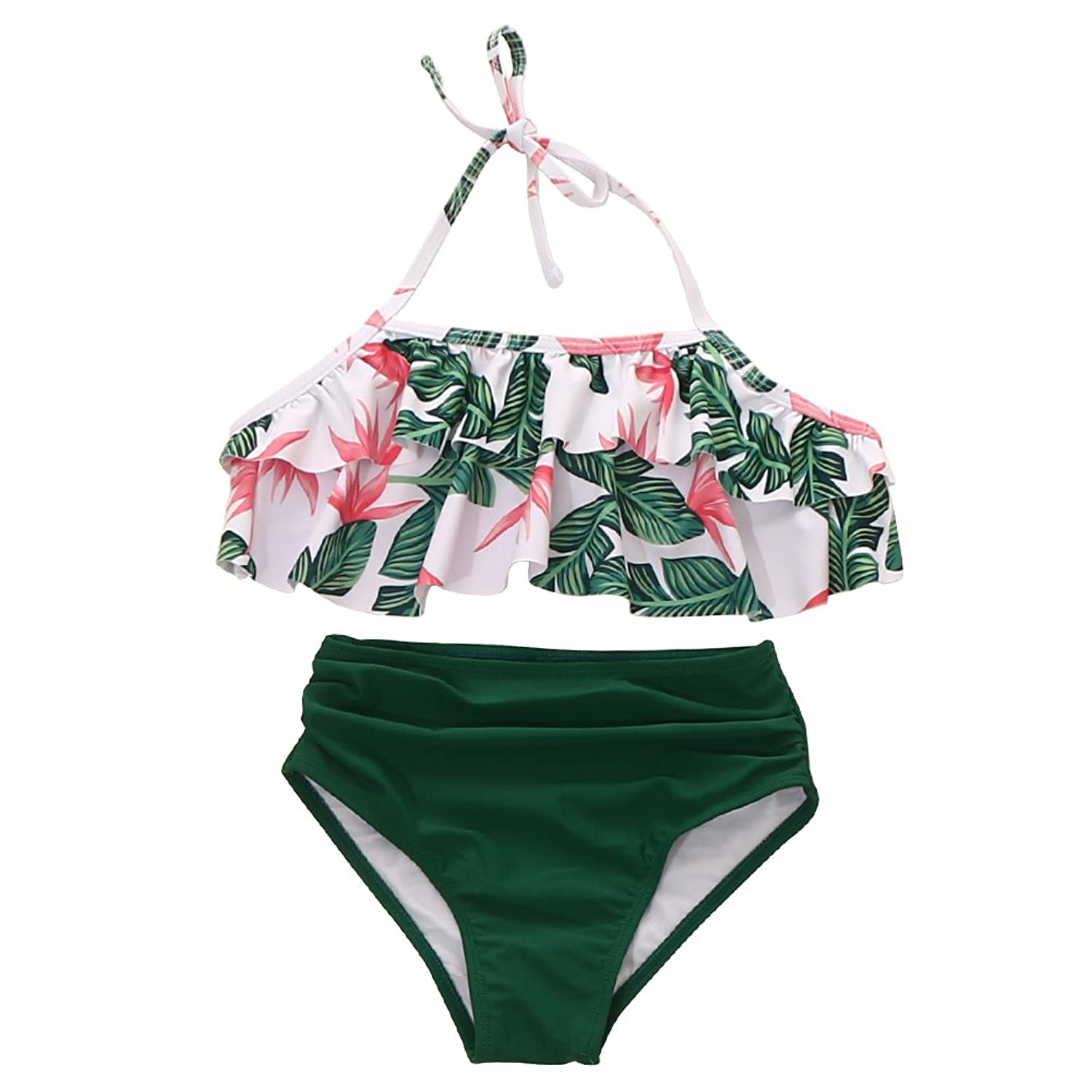 533e1d89895c7 High waisted swimsuits for girls or mums, (????????????NOTICE:Mother &Girl  style,)falbala,Family Matching, The Fabric of girls bathing suit contain ...
