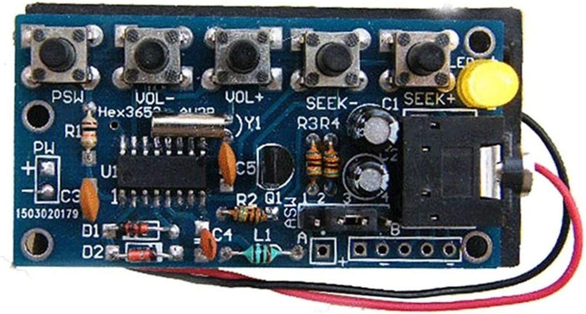Kits /électroniques bricolage /électroniques 76MHz-108MHz de module de r/écepteur de radio FM st/ér/éo sans fil Mat/ériaux /écologiques m/élange multicolore