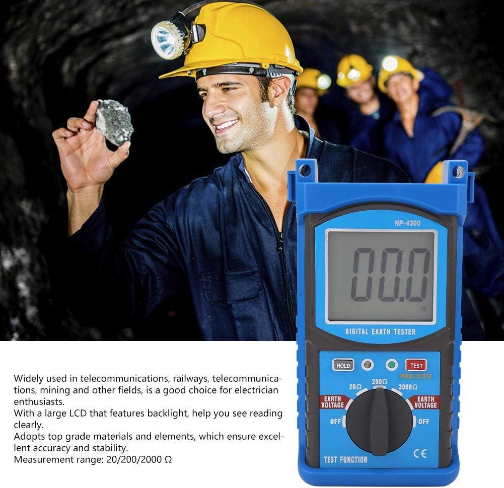 Multimeter Earth Meter Inductance Digital Capacitor Earth Resistance Tester Office Megohmmeter for Indoor Soil Resistivity