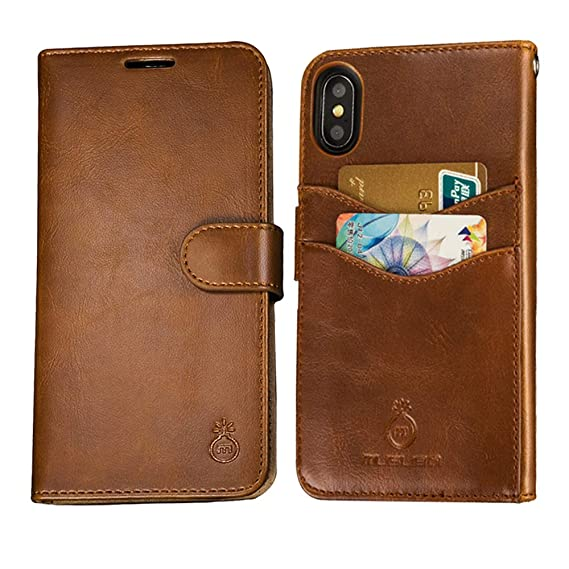 low priced 6a5e4 5ca07 Mens iPhone 7 Plus Wallet Case,iPhone 8 Plus Wallet Phone Cover Folio Flip  Cell Case Leather Case with Detachable PC Box Case Cell Phone Cover Bag ...
