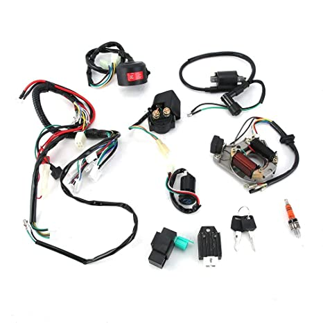 61ay1%2BKD2iL._SX466_ giodlce wire harness wiring loom assembly cdi coil ignition kit for