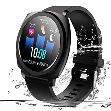 feifuns Smart Watch Fitness Tracker, Waterproof Digital Fitness GPS Running Watches for Man Woman Activity Tracker with Heart Rate and Blood Pressure ...