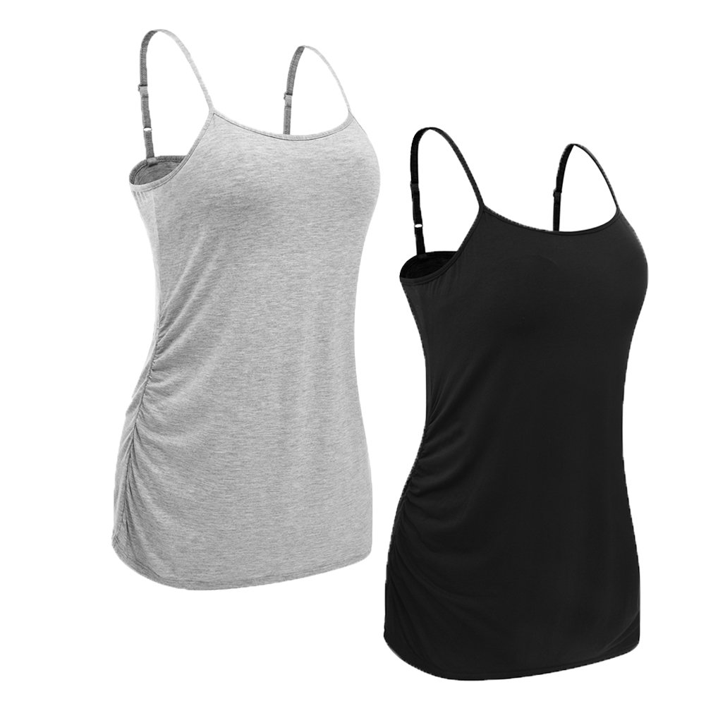 U-Pretty Women Basic Maternity Tank Tops Maternity Camisole 8218-CA