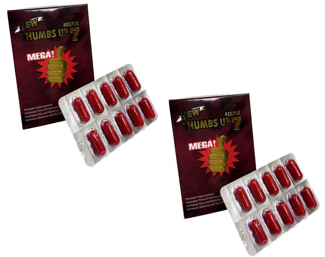 Thumbs Up 7 Red 70K 20 Capsules Best Male Enhancing Natural Performance Capsules New Premierzen Most Effective Natural Amplifier for Performance, Energy, and Endurance (RED(20CAP))